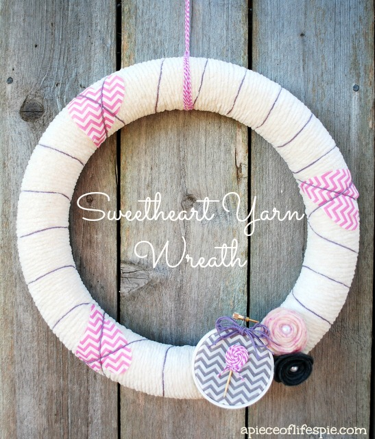 sweetheart yarn wreath