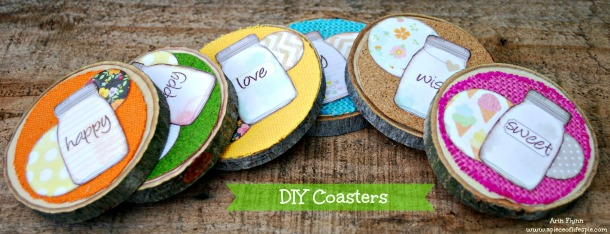 DIY Coasters w tag