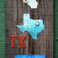 DIY States Where I Lived Home Decor